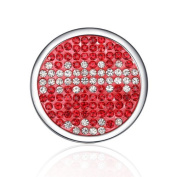 Interchangeable Coin for Interchangeable Pendant Necklace -Red & White -