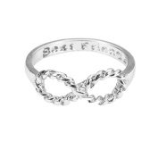 Tinksky Finger Ring with Lovers Bowknot Infinity Best Friends Inscribed