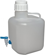 dynalab corp 505634-2 carboy square with spigot pp 10 l