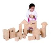 Edushape Big Wood-Like Foam Block Set