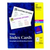 Avery 7.6cm x 13cm . Inkjet And Laser Index Card - White Pack 150
