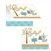 Creative Converting 895670 Happi Woodland - Boy Invitation & Diecut - Case of 48