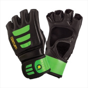 Century 147018P-015252 Brave Youth Open Palm Glove - Black & Green Large-Extra Large