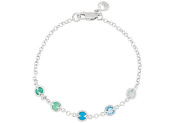 Fine Jewellery Vault UBBRS69697AGMC Rhodium Plating 925 Sterling Silver with Multi Colour 18cm . Bracelet