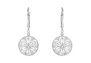 Fine Jewellery Vault UBERS69945AGD Diamond Lever Back Earrings in 925 Sterling Silver 0.08 Carat Total Diamond Weight