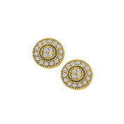 Fine Jewellery Vault UBNER40384Y14D April Birthstone Diamond Round Earrings in 14K Yellow Gold 0.50 CT TDW