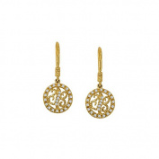 Fine Jewellery Vault UBNER40860Y14D April Birthstone Diamond Round Earrings in 14K Yellow Gold 0.25 CT TDW