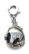 Whimsical Gifts 1133S CD Player & Headphone Charm Dangle in Silver
