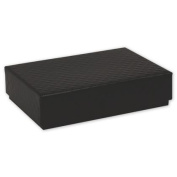 Deluxe Small Business Sales 65-DCBSM-QBL 1.19 x 8.3cm x 12cm . Quilted Decorative Candy Boxes Black