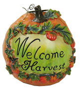 NorthLight 18cm . Welcome Harvest Thanksgiving Pumpkin Table Top Decoration