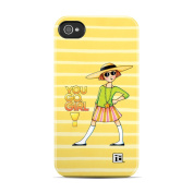 DecalGirl AIP4CC-GOGIRL Apple iPhone 4 Clip Case - You Go Girl