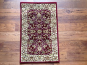 IMS 21130086038036 Traditional Persian Design Accent Rug Burgundy - 0.6m x 0.9m