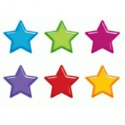 Trend Enterprises T-10968 Gumdrop Stars Accents Standard Size- Variety Pack