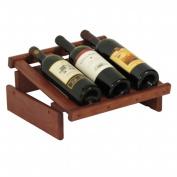 Wooden Mallet WRD3MH 3 Bottle Dakota Wine Display