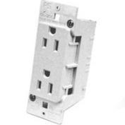 United States Hardware E-120C White Duplex Receptacle