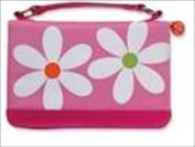 Zondervan Gifts 572254 Bible Cover Microfiber Daisy With Zipper Pocket Medium Pink