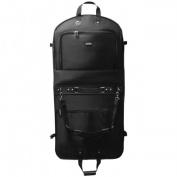 WallyBags 2010 Black 110cm . Bi-Fold Garment Bag with Shoulder Strap