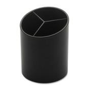 Business Source BSN32355 Large Pencil Cup 3 Compartments 7.6cm . x 7.6cm . x 10cm . Black
