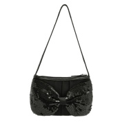 Sequin Bow Clutch Hand Bag