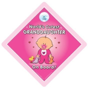 World's Cutest Granddaughter Car Sign, Baby On Board Sign, Grandchild On Board Sign, baby on Board, Decal, Bumper Sticker, Baby Car Sign, Baby Sign, Novelty Car Sign