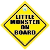 LITTLE MONSTER ON BOARD CAR SIGN, Baby on Board Sign, Little Monster Sign, Bumper Sticker Sign Style, Funny Driving Signs, Little Monsters Sign