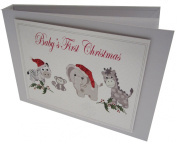 white cotton cards Value Range Baby's First Christmas Toys Design Christmas Tiny Value Album