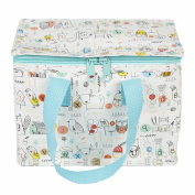 Sass & Belle Insulated Recycled Plastic Lunch Bag - Woodland Alphabet Animals