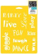 Stencil Mania Stencil 7X10-Whimsical Words