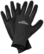 Magid Glove ROC20TLCS Large Durable Polyurethane Coated Palm Glove - Black Pack Of 12