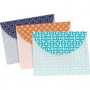 Globe-Weis 95195 Fashion Snap Envelope Letter Size 3 Pack Assorted Pack Of 8