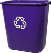 Rubbermaid Commercial Products 881105 Deskside Recycling Container- Pack of 5