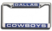 Caseys Distributing 9474640245 Dallas Cowboys Laser Cut Chrome Licence Plate Frame