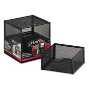 Eldon Office Products FG9E5600BLA Organisation Two-Drawer Cube Wire Mesh Storage 6 x 6 x 6 Black