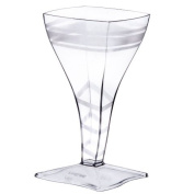 Fineline Settings 6410-CL Tiny Square Wine Glass- 60ml
