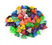 Bry Belly GDIC-1001 100 plus Pack of Random D4 Polyhedral Dice in Multiple Colours