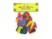 Bulk Buys CC151-48 Assorted Colours Crafting Felt Letters - Pack of 48