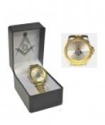Sigma Impex A-3135 Masonic Metal Band Wrist Watch