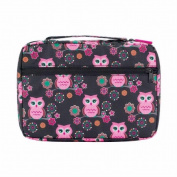 White Dove Designs 128382 Bible Cover - Owl Print with Zipper Front Pocket - Brown & Pink