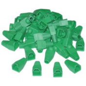 Cable Wholesale RJ45 Strain Relief Boots Green 50 Pieces Per Bag