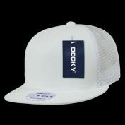 Decky 1063-WHT 5 Panel Flat Bill Trucker Hats White