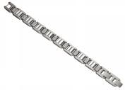 Caseti CABR015 Caseti Wolfram Stainless Steel and Tungsten Bracelet