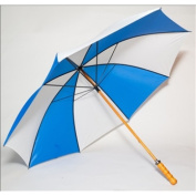 Elite Rain Frankford 2988WS-BW Wooden Shaft Golf Umbrella Royal Blue and White