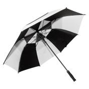 Elite Rain Frankford GF01-BKW Fibreglass Golf Umbrella Black and White