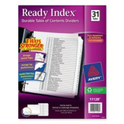 Avery Consumer Products AVE11140 Index Dividers- Classic- 8-.130cm .x 11in.- 1-12 Tab- Black-White