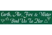 AzureGreen EBEAR Earth Air Fire & Water Bumper Sticker