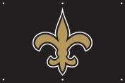 Party Animal PA-TGNO New Orleans Saints 2 x 3 Horizontal Applique Fan Banner
