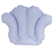 DeluxeComfort Inflatable Bath Cushion, Shell Light White/Blue Vinyl, 0.2kg
