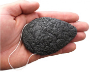 BellaBloom Konjac Facial Beauty Sponge - All Natural Activated Charcoal - Eco-Friendly - 100% Lifetime Guarantee