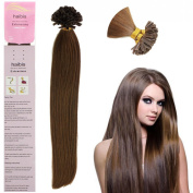 Haibis Remy Straight Pre Bonded Nail U Tip Keratin Human Hair Extensions 1g/s 100s