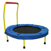 Dazzling Toys 90cm Folding Trampoline with handle - Yellow